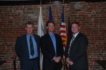 In Photo: left to right Alexandria Senior Vice President Chris Flood, Bryan Porter, Chapter President Tom Ground.