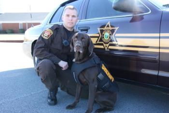 Deputy Sheriff Jason Keeter and Brody