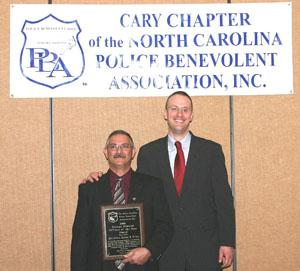2006 George Almond Officer of the Year Recipient Detective Jim Grier with Retired Detective George Almond