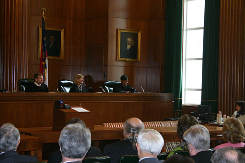 Associate Supreme Court Justice Cheri Beasley offer remarks to those in attendance