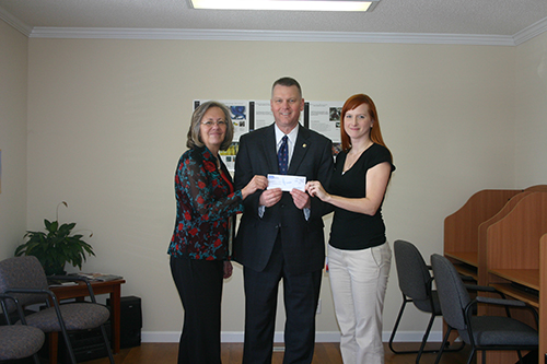 (L-R) Hope Ashworth, Randy Byrd, and Jennifer Bass